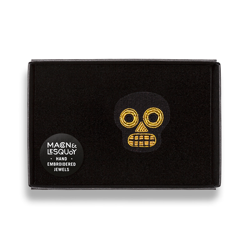 M&L Mini Golden Muerte brooch