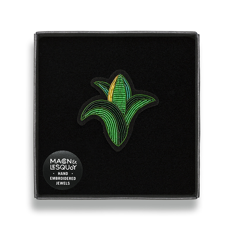 M&L Corn brooch
