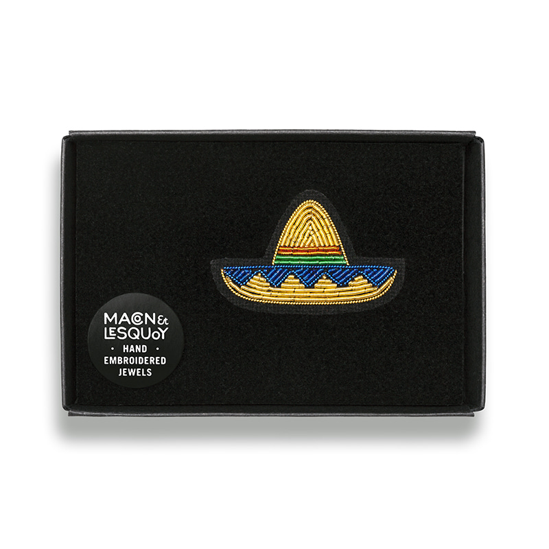M&L Golden Sombrero brooch
