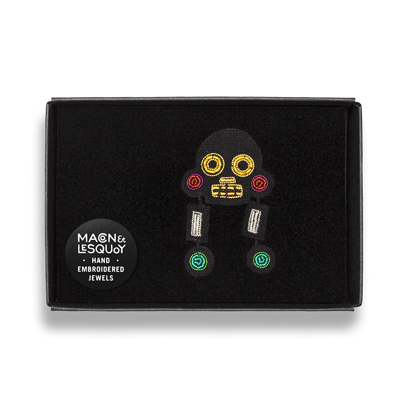 M&L Multicolor Muerte brooch