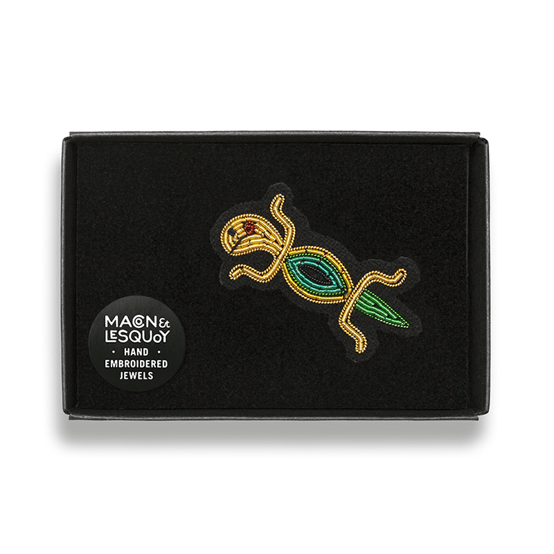 M&L Mini Lizard brooch